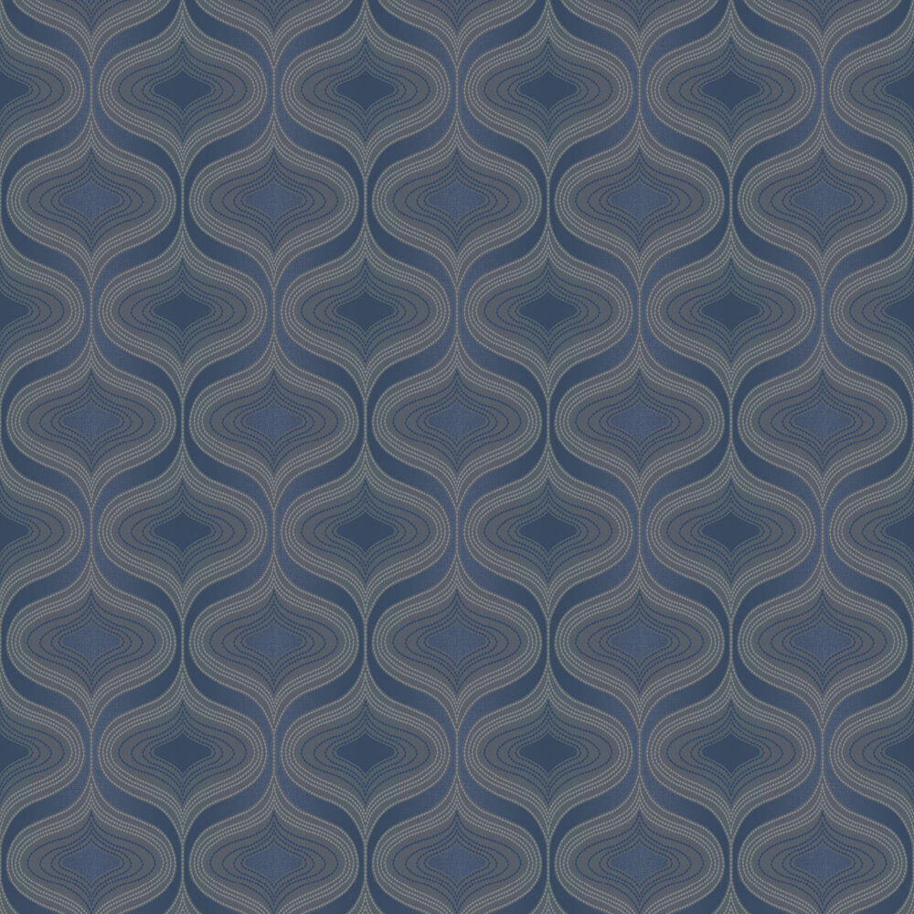 Nuevo Wallpaper - Navy - by Albany