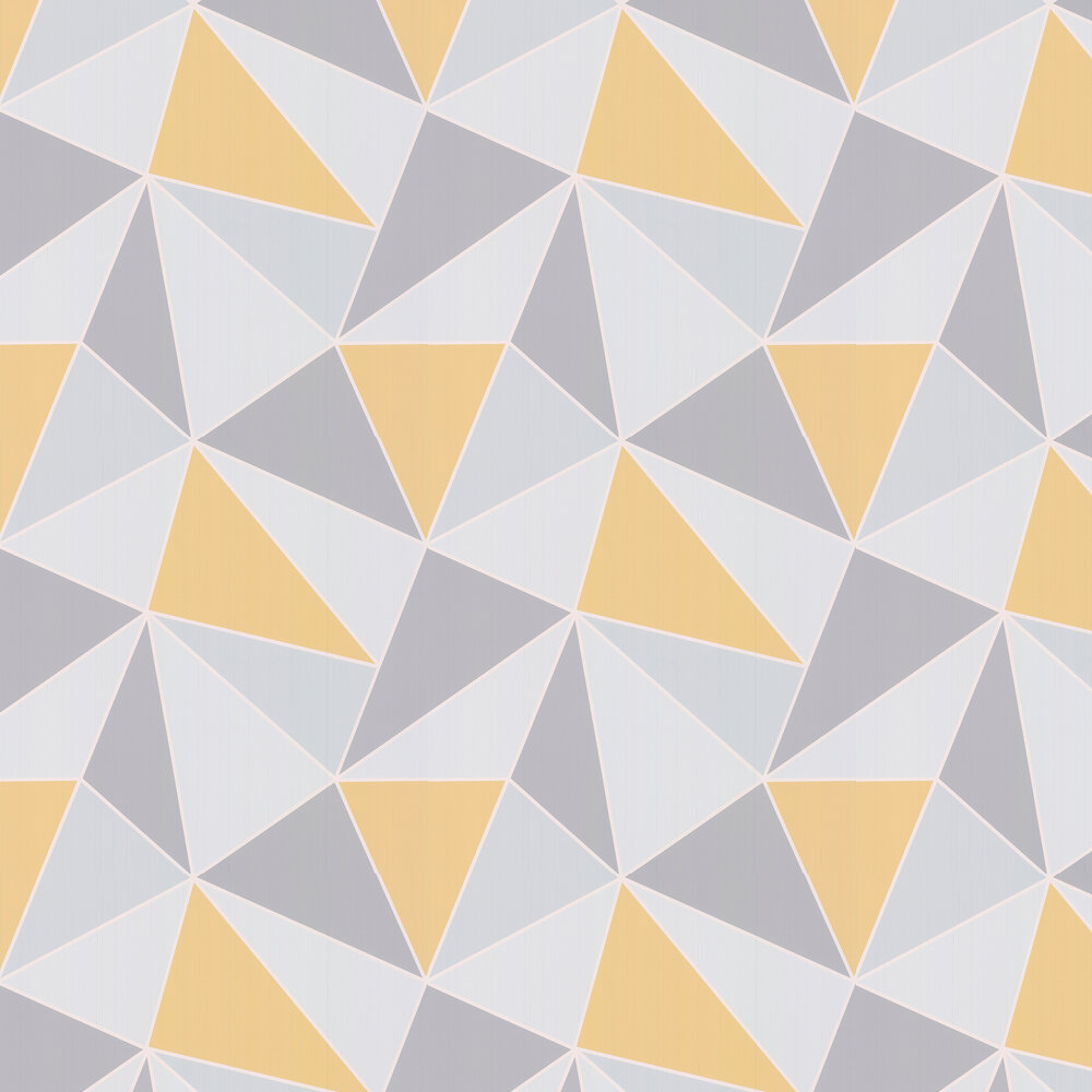 Apex Geo Wallpaper - Yellow - by Albany