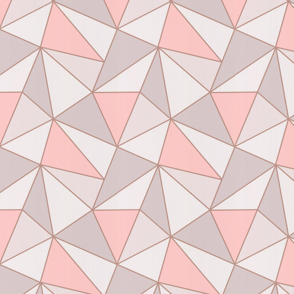 Apex Geo Wallpaper - Rose Gold - by Albany