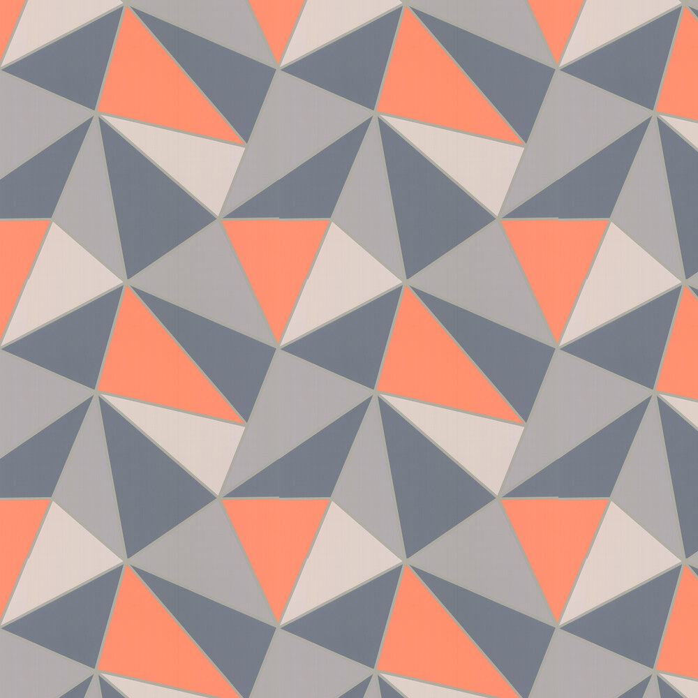 Apex Geo Wallpaper - Burnt Orange - by Albany