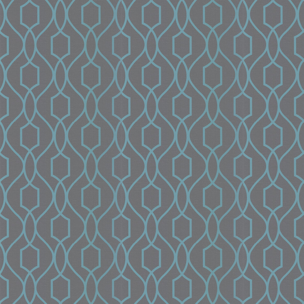 Apex Trellis Wallpaper - Charcoal - by Albany