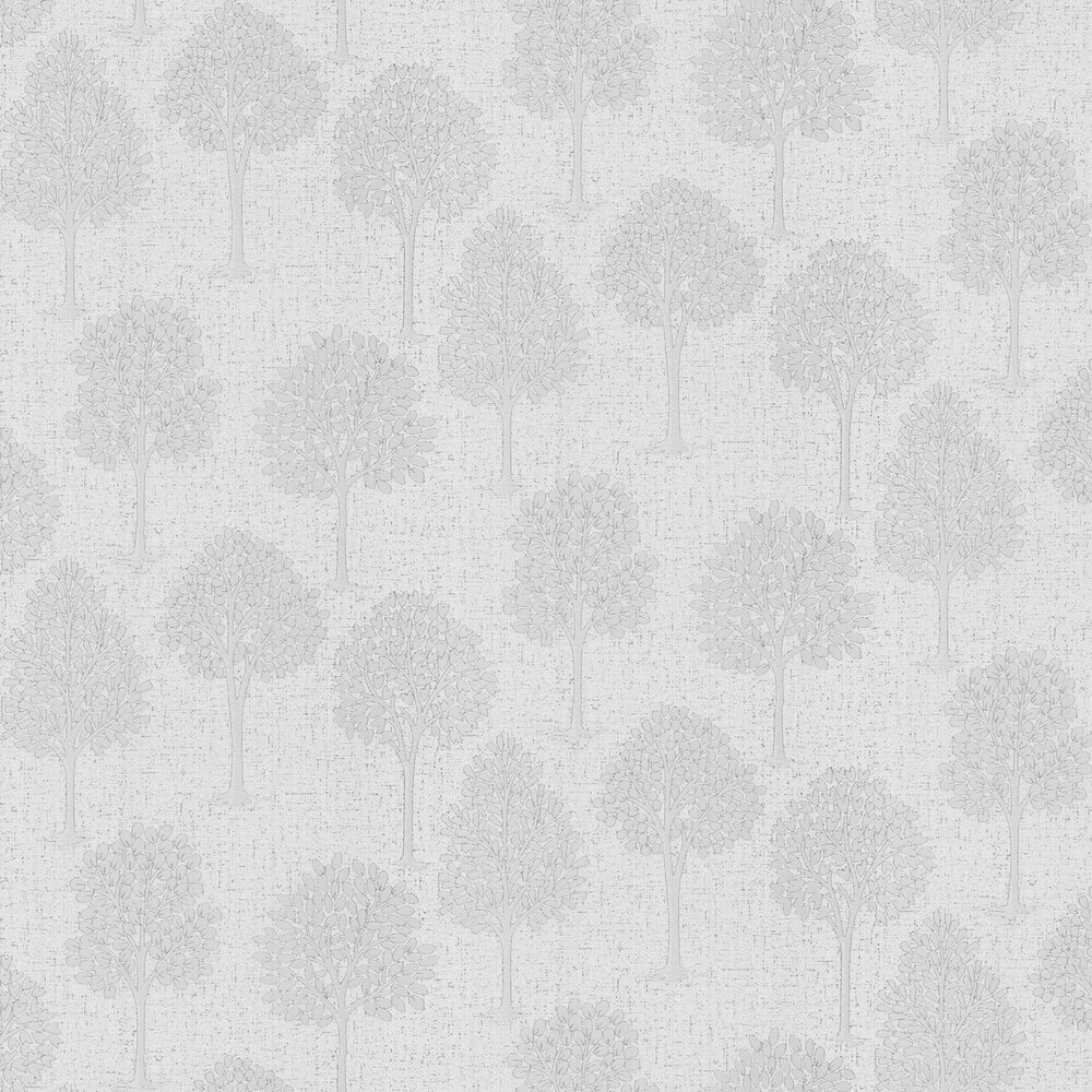 Quartz Tree Wallpaper - Silver - by Albany