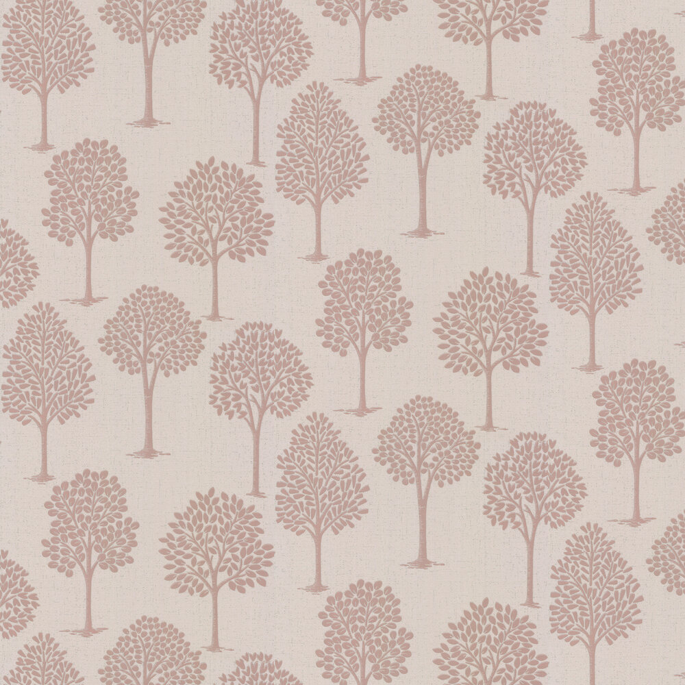 Quartz Tree Wallpaper - Rose Gold - by Albany
