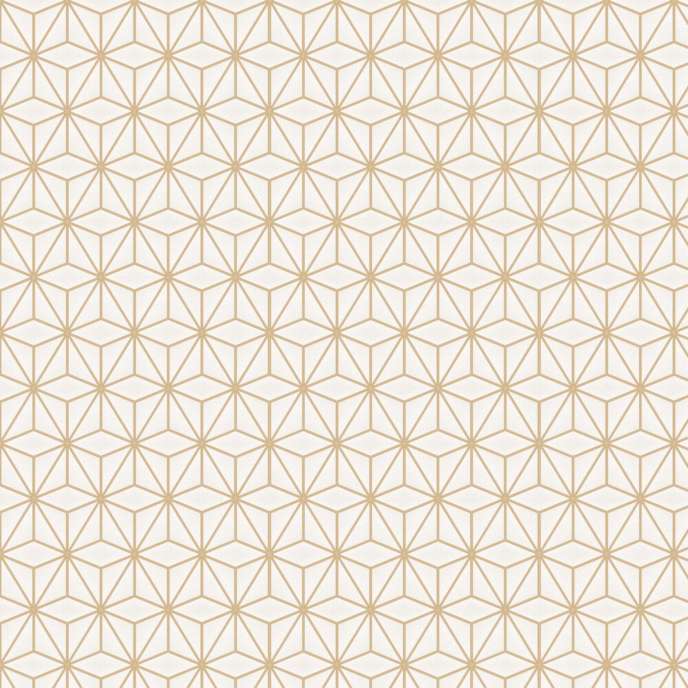 Pulse Star Geo Wallpaper - Gold - by Albany