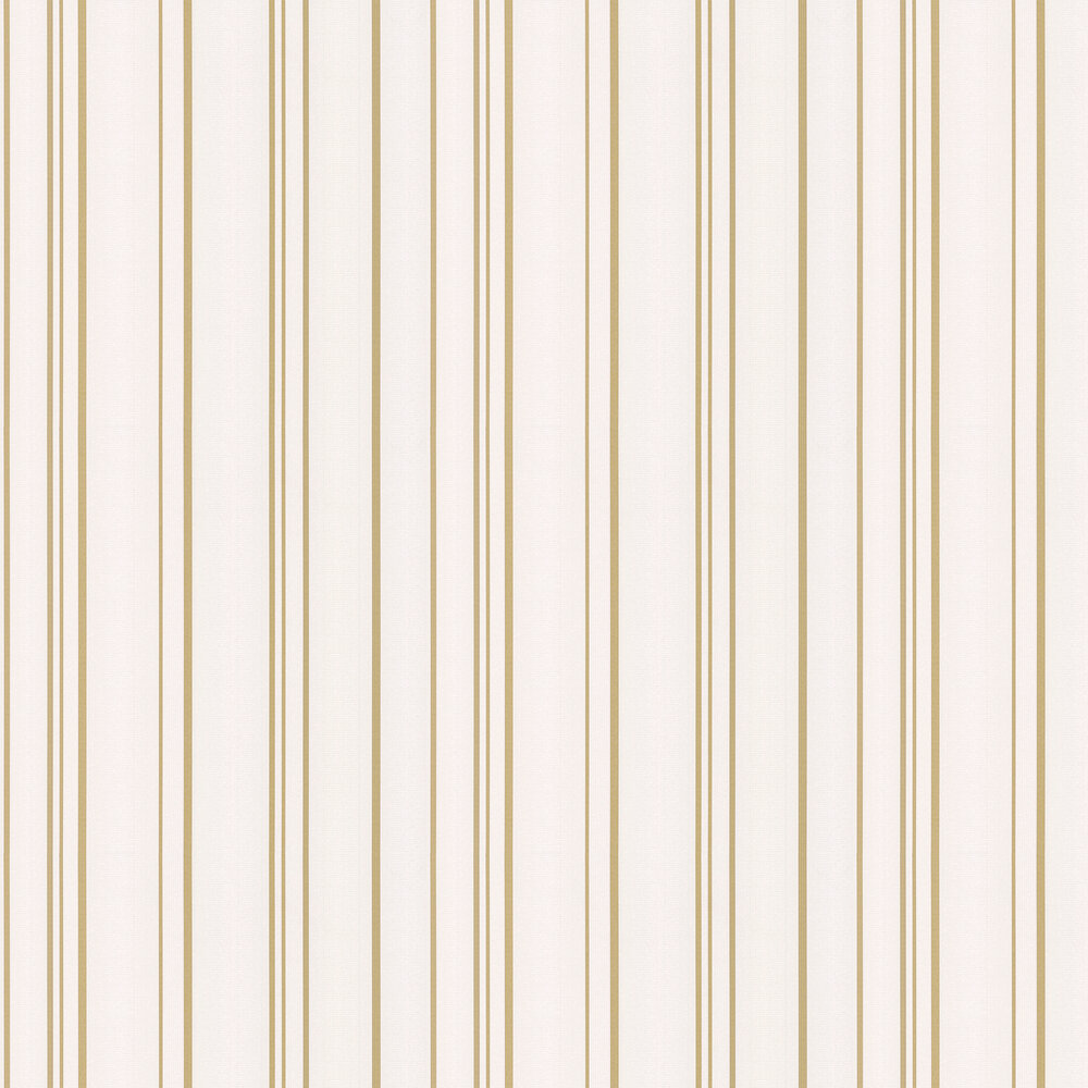 Pulse Stripe Wallpaper - White and Gold - by Albany