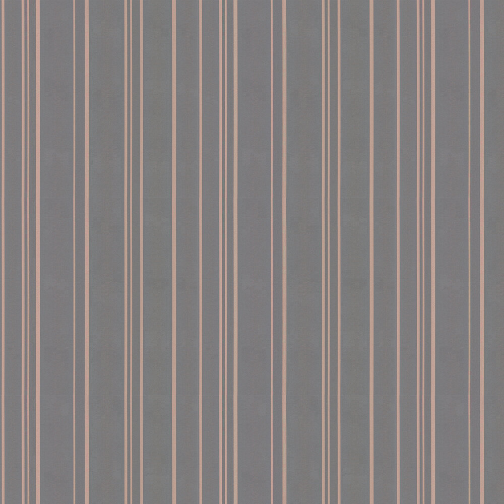 Pulse Stripe Wallpaper - Charcoal - by Albany