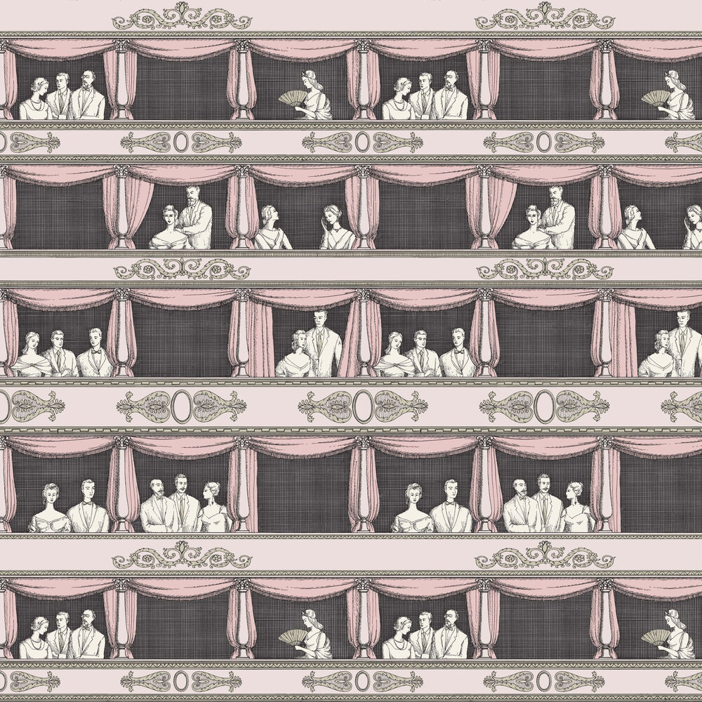 Teatro Wallpaper - Neutral - by Cole & Son
