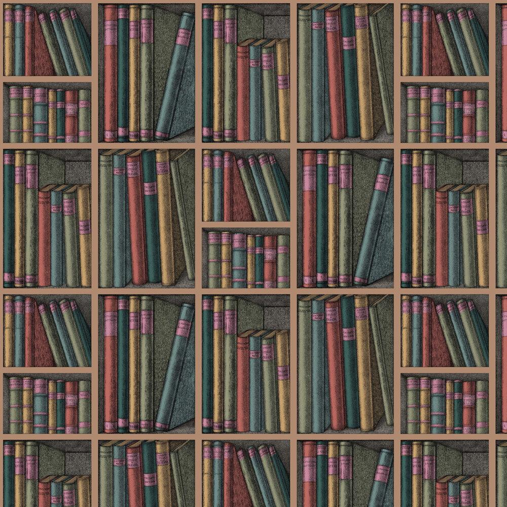 Ex Libris Wallpaper - Blue-green - by Cole & Son