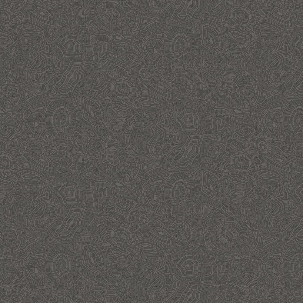 Malachite Wallpaper - Black - by Cole & Son