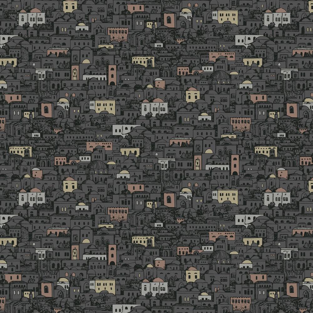 Mediterranea Wallpaper - Charcoal - by Cole & Son