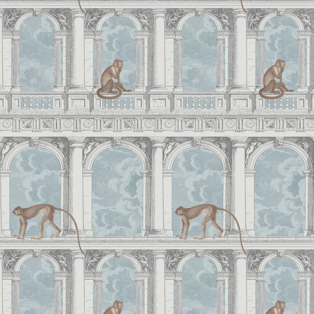 Procuratie con Vista Wallpaper - Blue-grey - by Cole & Son