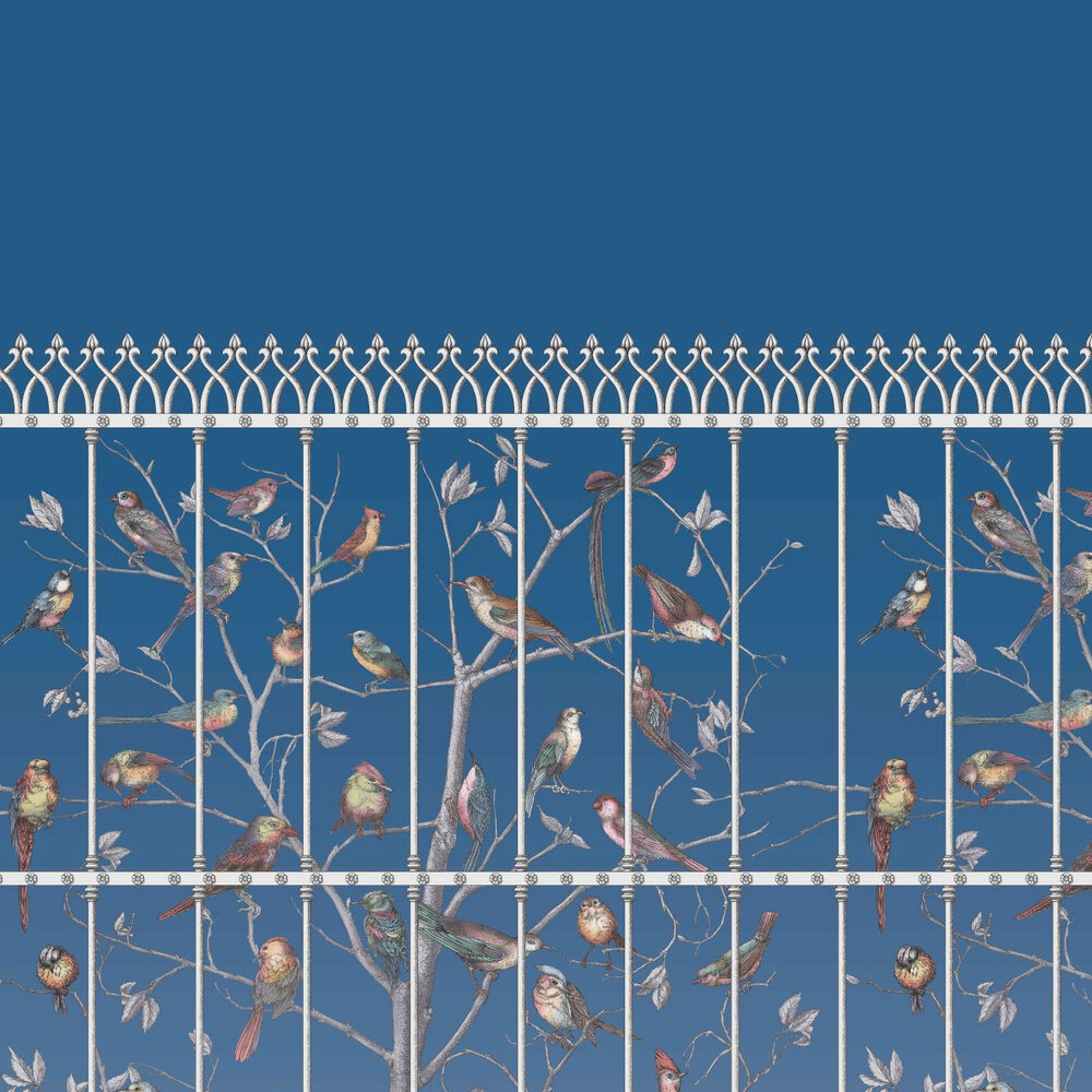 Uccelli Wallpaper - Blue - by Cole & Son
