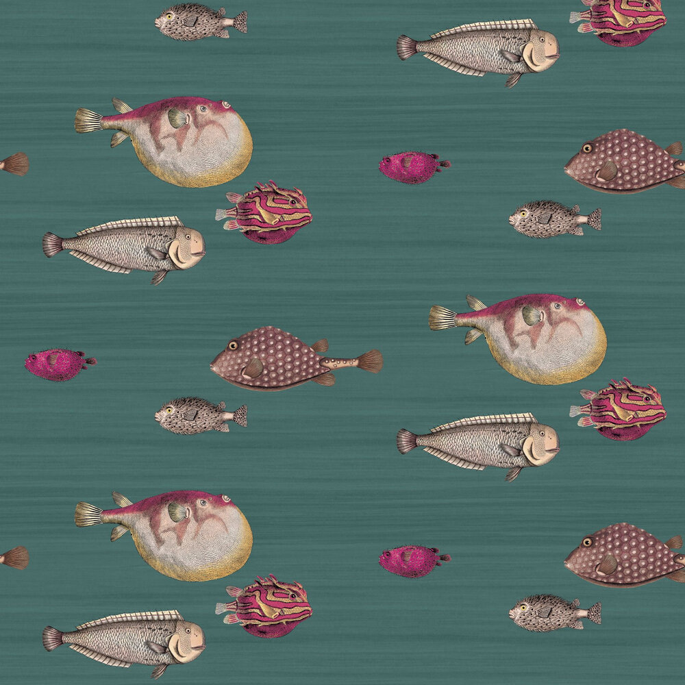 Cole & Son Acquario Deep Blue Wallpaper - Product code: 114/12024