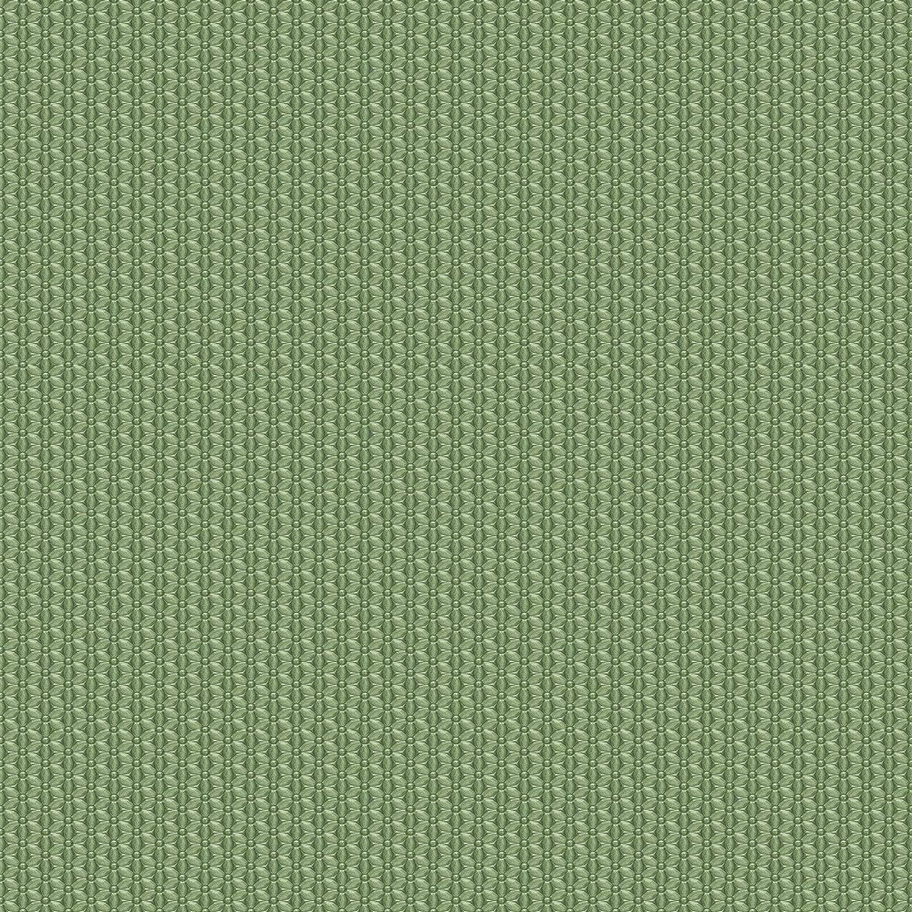 Mosaic Flowers Wallpaper - Green - by SK Filson