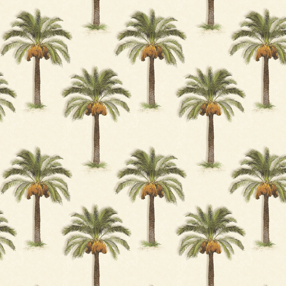 Palm Trees Wallpaper - Stone - by SK Filson