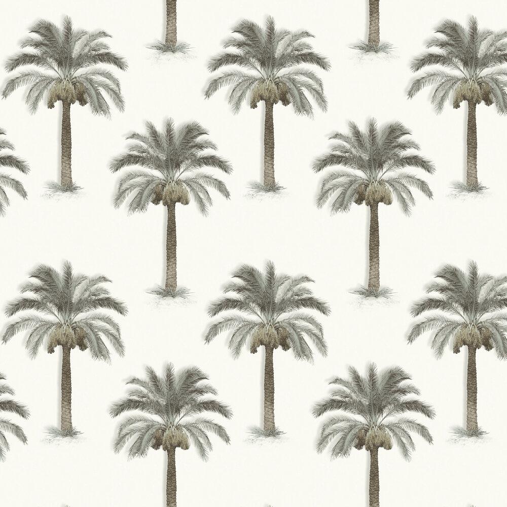 Palm Trees Wallpaper - Beige - by SK Filson