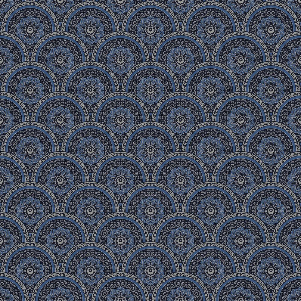 Divine Plates Wallpaper - Blue - by SK Filson