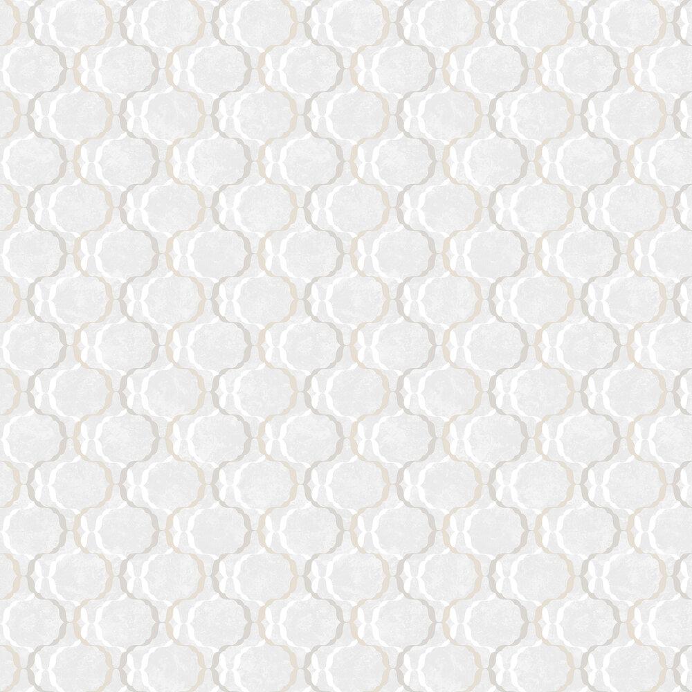 Diamond Trellis Wallpaper - Ivory - by SK Filson