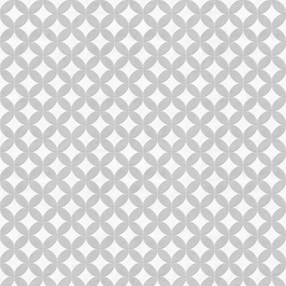Geometric Circles Wallpaper - Grey - by SK Filson
