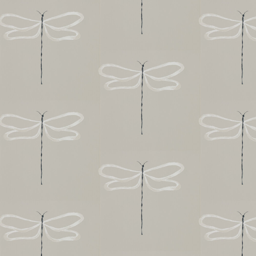Dragonfly Wallpaper - Parchment - by Scion