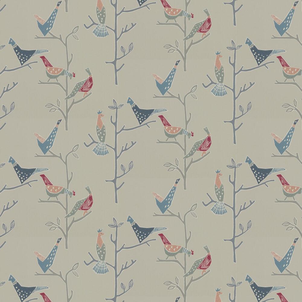 Passaro Wallpaper - Rose & Steel - by Scion