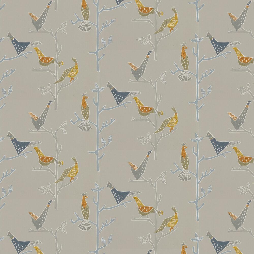Passaro Wallpaper - Cinnamon & Slate - by Scion