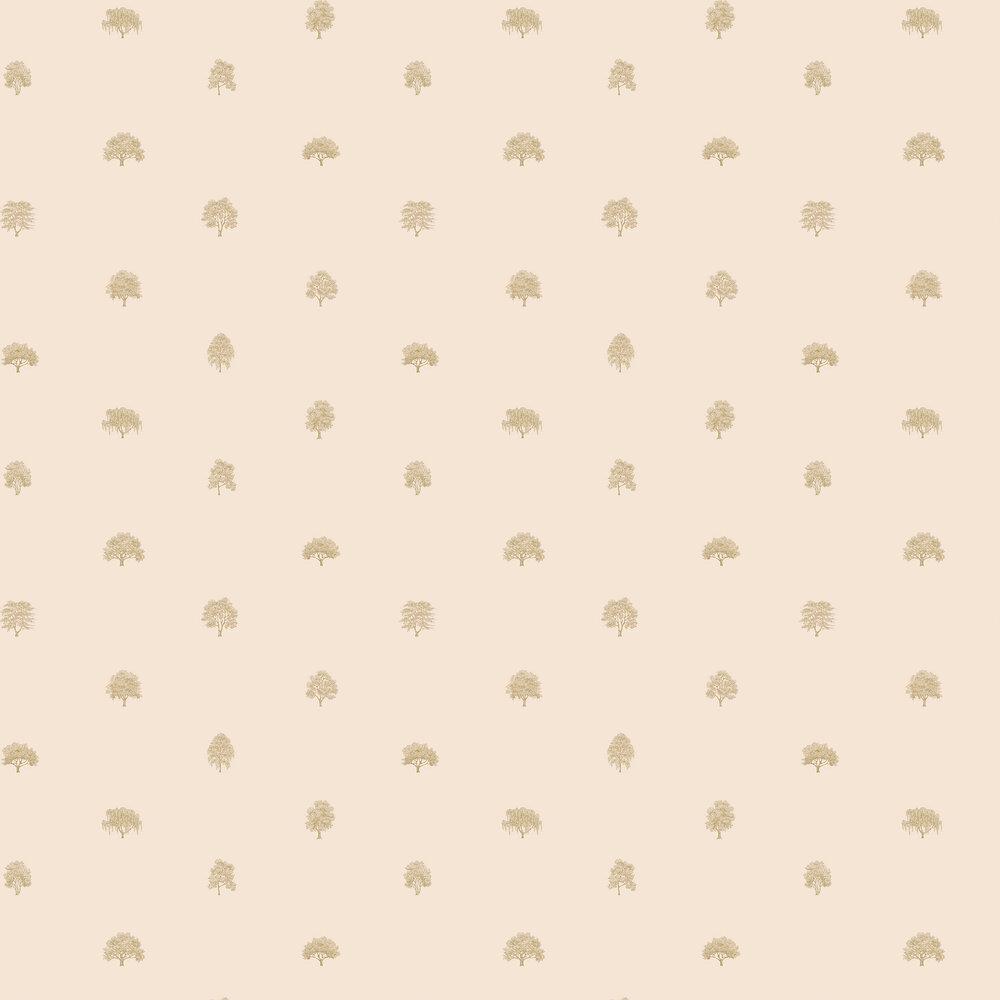 Arboretet Wallpaper - Pink - by Sandberg