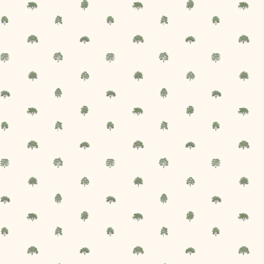 Arboretet Wallpaper - Green / White - by Sandberg
