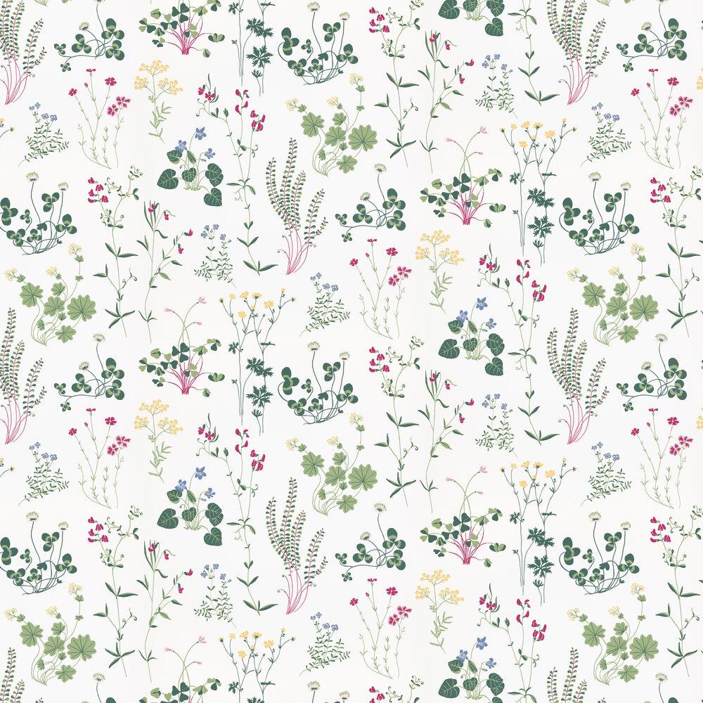 Sandberg Simons Äng White Wallpaper - Product code: 708-01