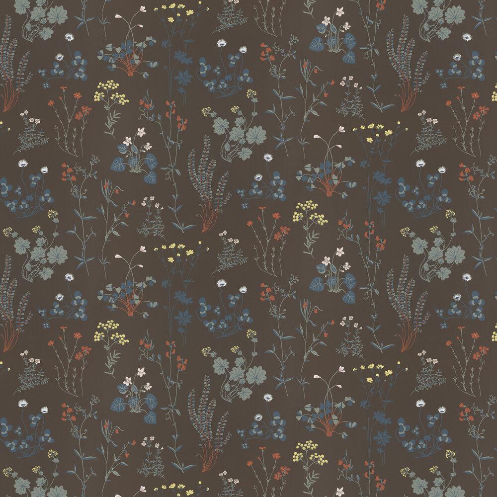 Simons Äng Wallpaper - Dark Brown - by Sandberg