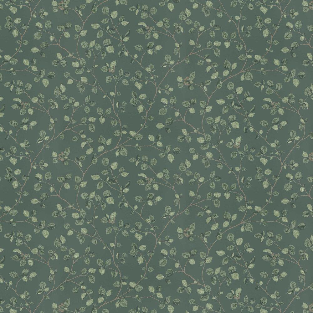Hassel Wallpaper - Dark Green - by Sandberg