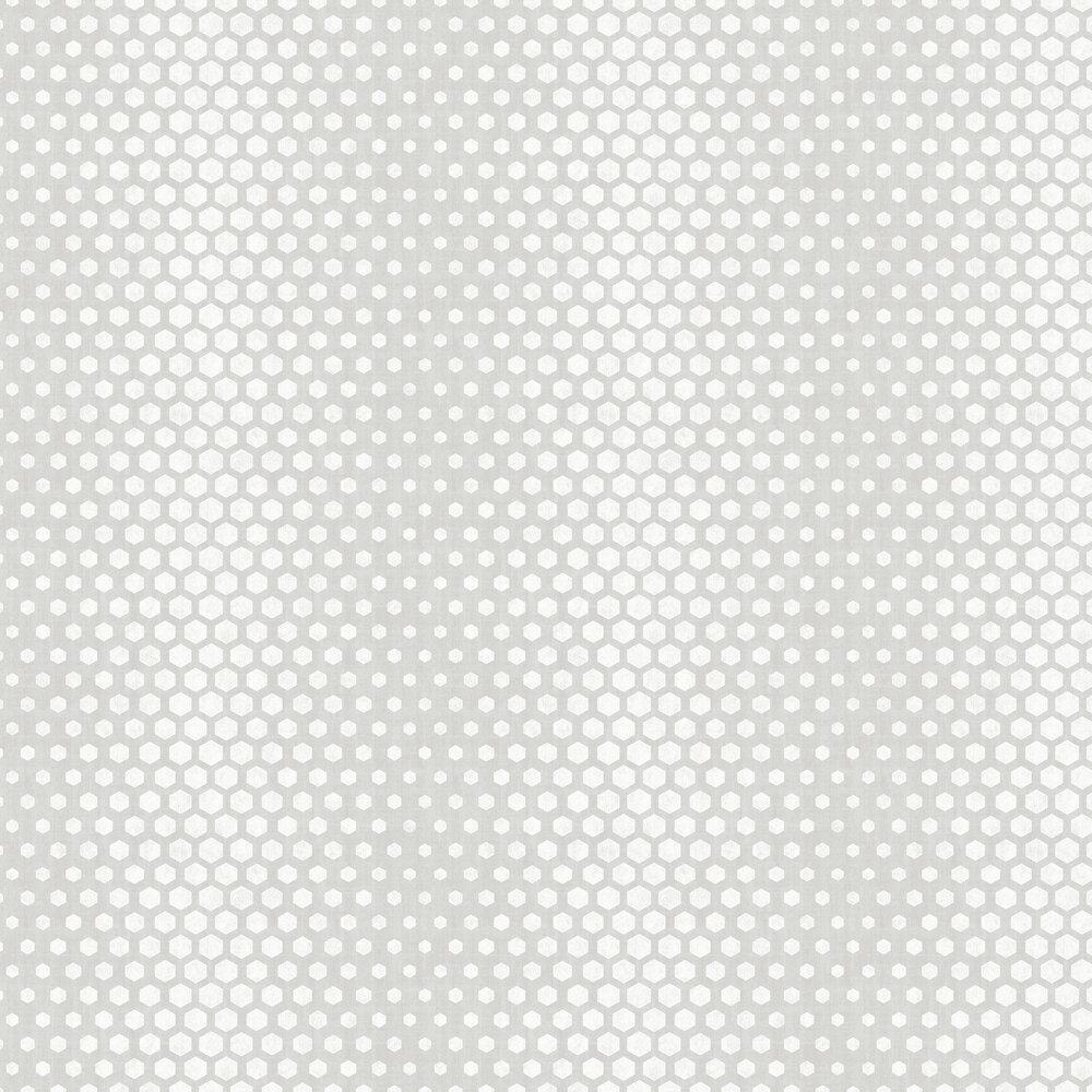 Hexagon Ombre Wallpaper - Grey - by SK Filson