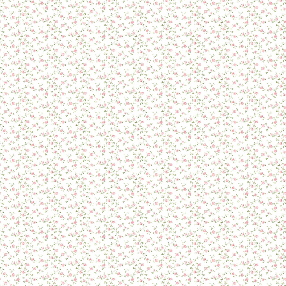 Miniature Rose Trail Wallpaper - Pink - by Galerie