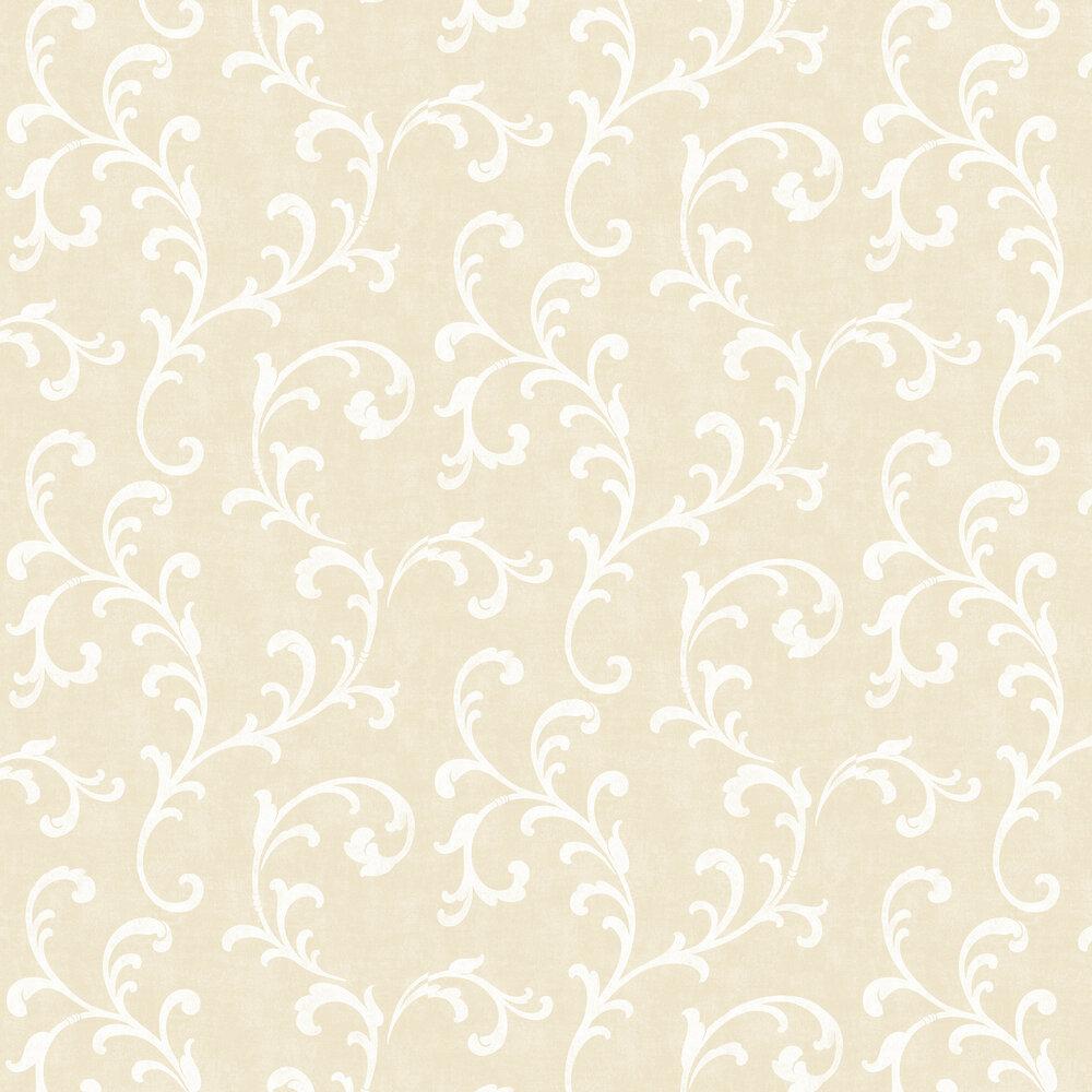 Trellis Scroll Wallpaper - Gold - by SK Filson