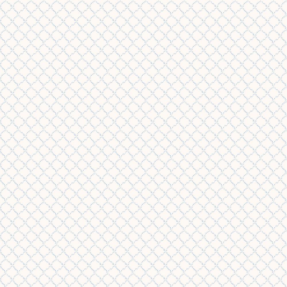 Galerie Miniature Rose Trellis Blue Wallpaper - Product code: G67903