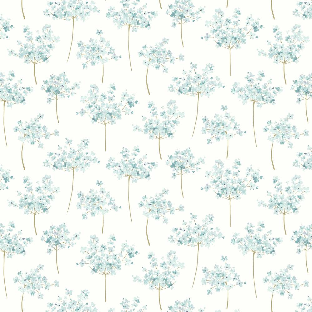 Boboli Wallpaper - Blue - by Casadeco