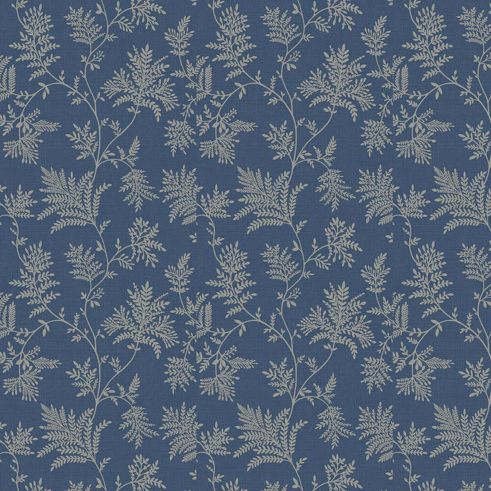Elsie Wallpaper - Navy - by Albany
