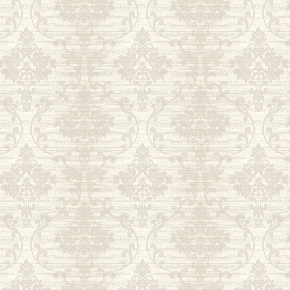 Kaluna Damask Wallpaper - Cream - by Albany