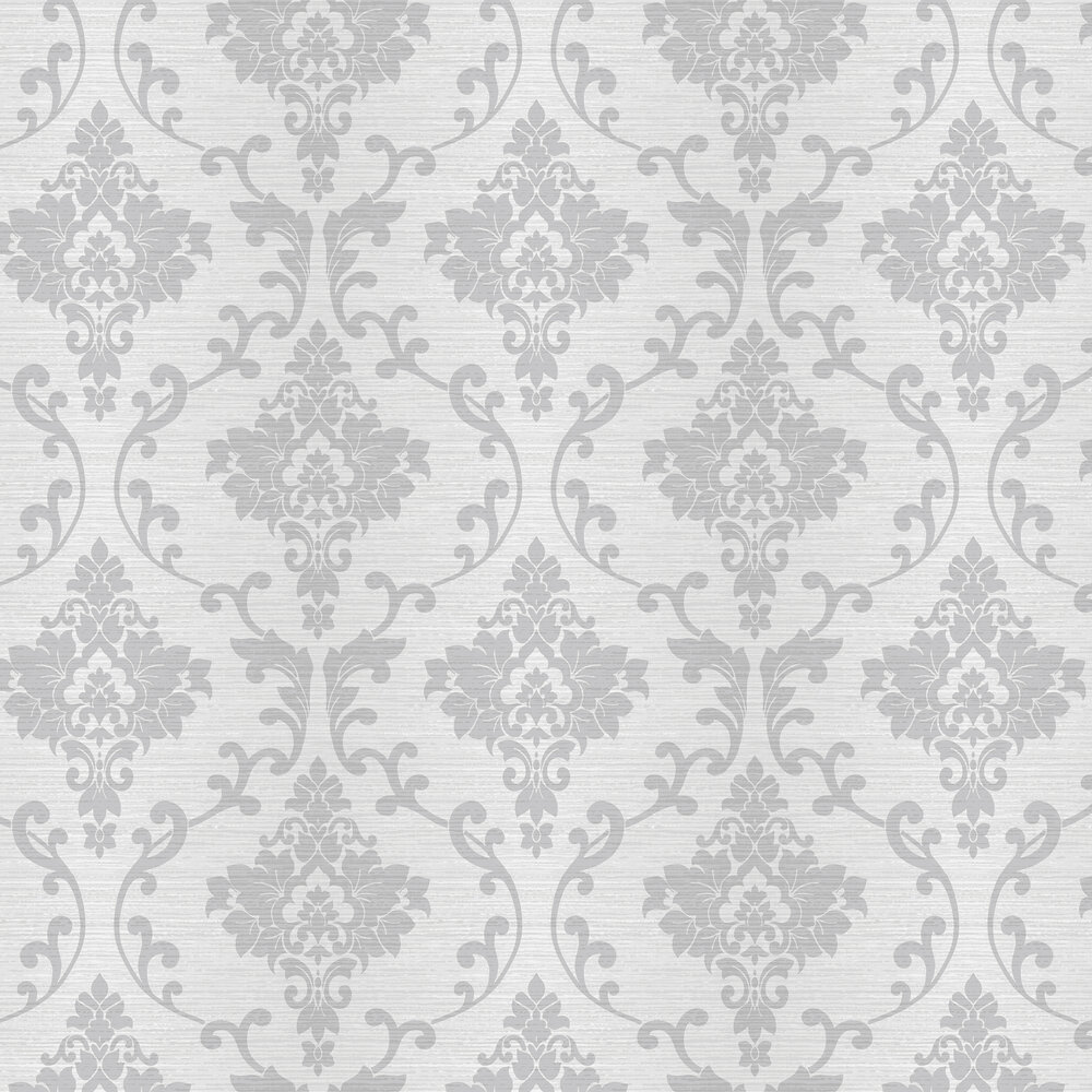 Kaluna Damask Wallpaper - Dove - by Albany