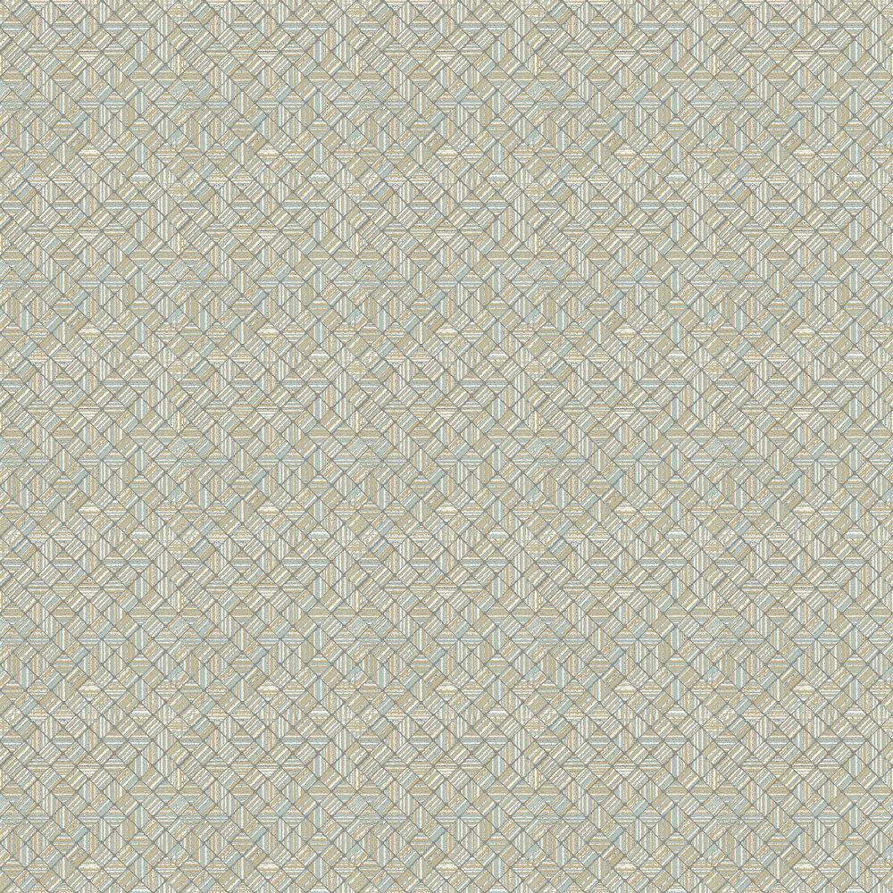 Pyrite Wallpaper - Larimar - by Elizabeth Ockford