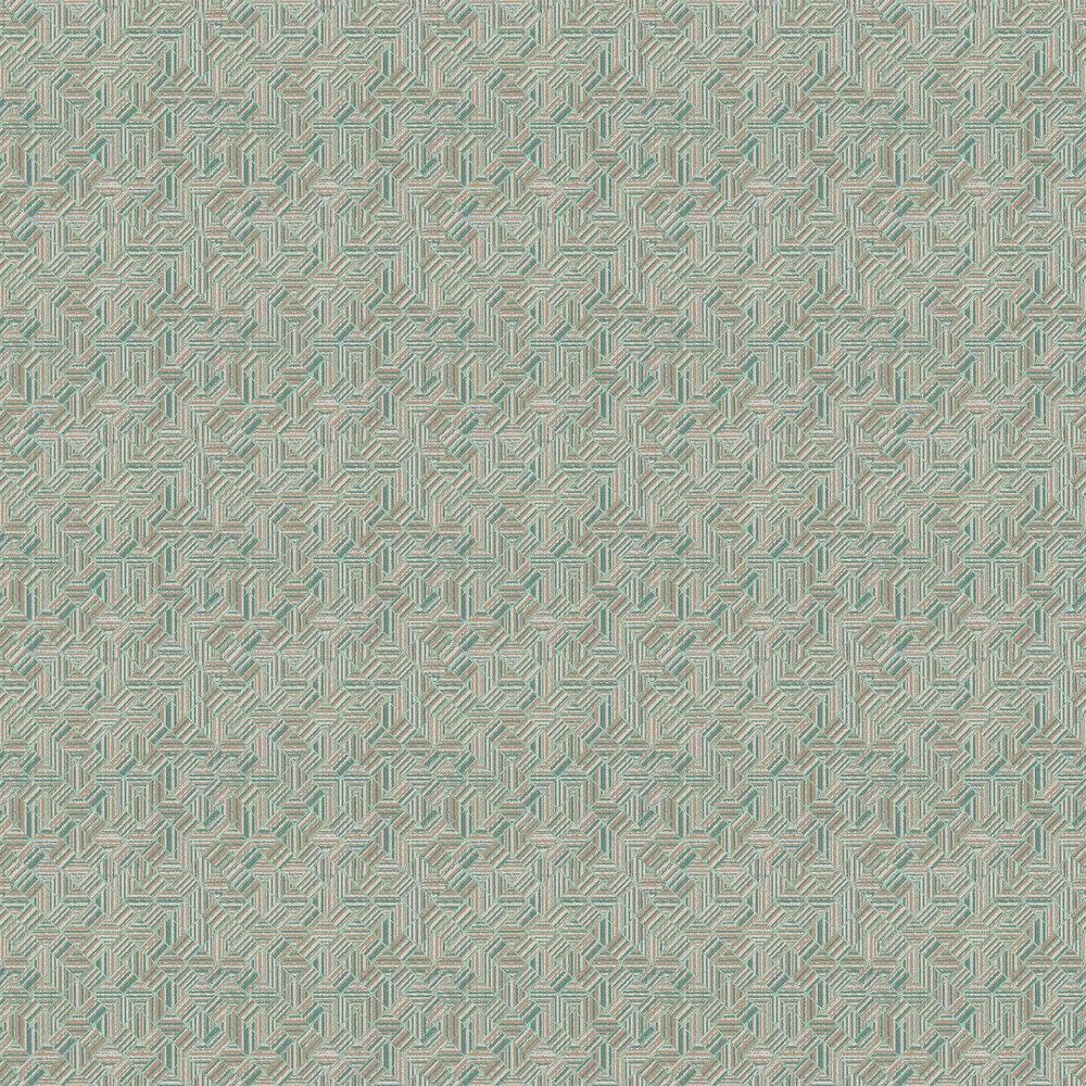 Elizabeth Ockford Pyrite Aqua Wallpaper - Product code: WP0140405