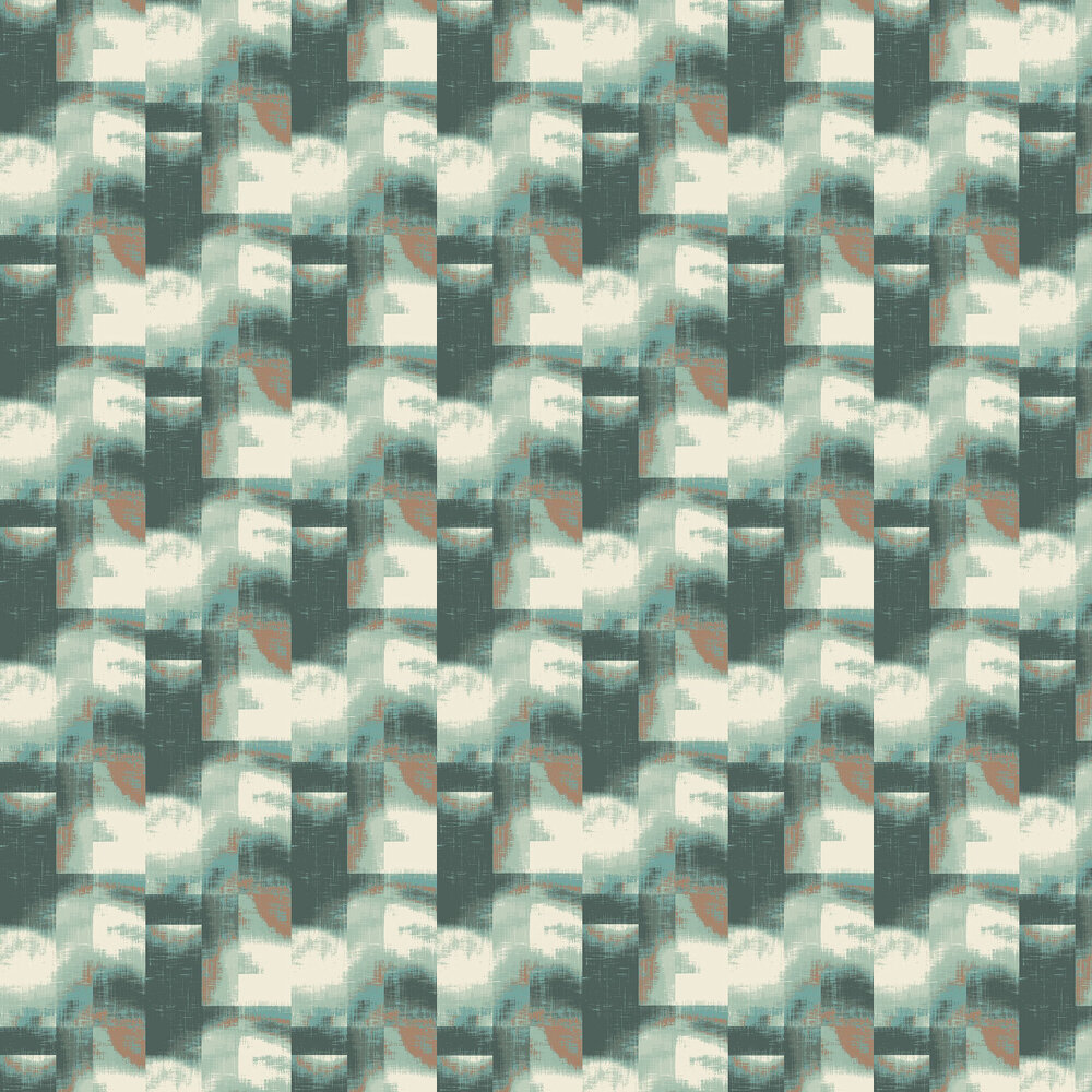 Clouds Wallpaper - Aqua - by Elizabeth Ockford