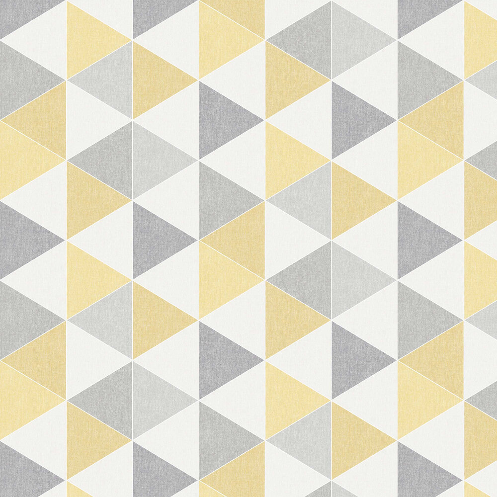 Scandi Triangle Wallpaper - Yellow - by Arthouse