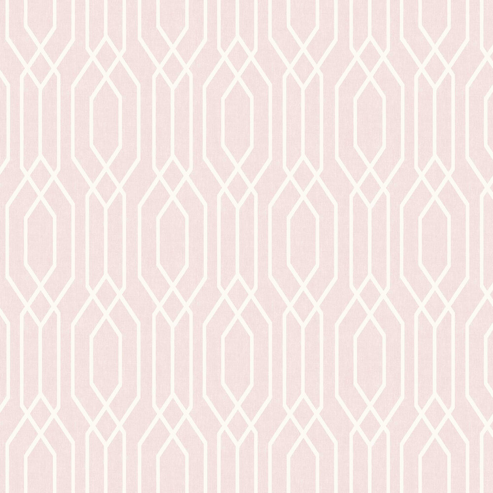 New York Geo Wallpaper - Pink - by Arthouse