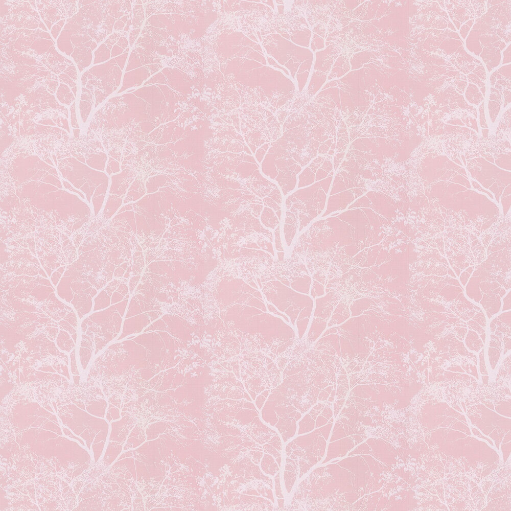 Whispering Trees Wallpaper - Dusky Pink - by Albany