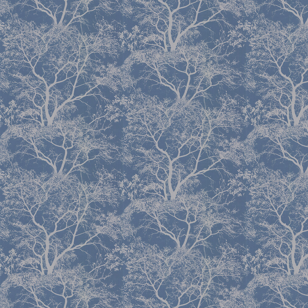 Whispering Trees Wallpaper - Navy - by Albany