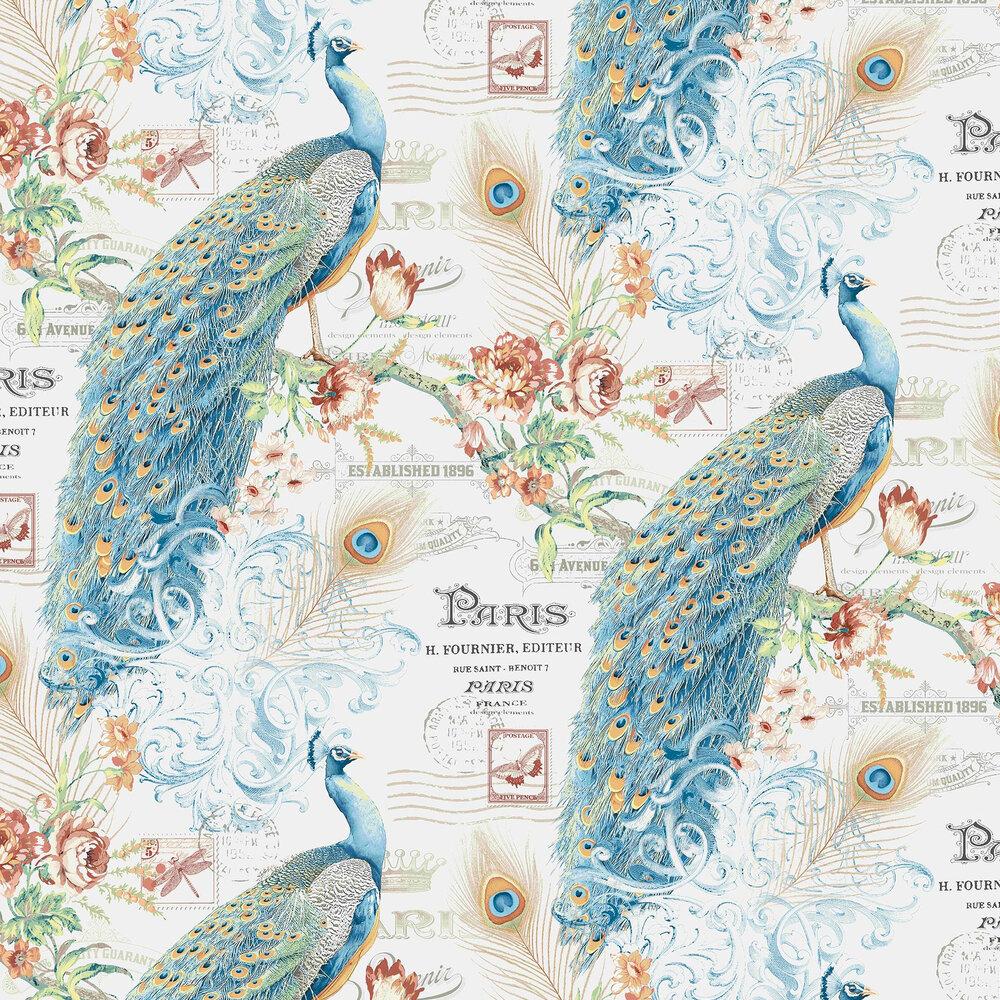 Vilber Peacock Blue Wallpaper - Product code: PEACOCK 155 W-01