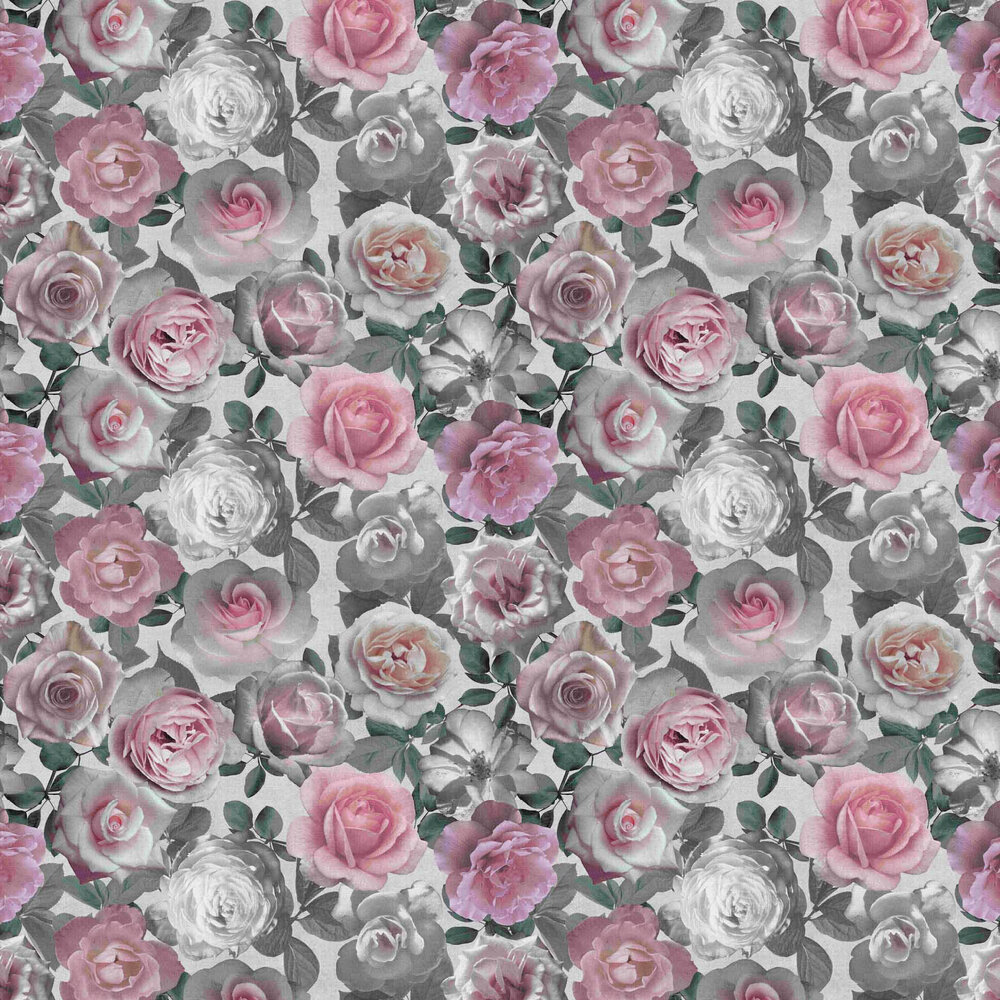 Roses Wallpaper - Pink - by Vilber