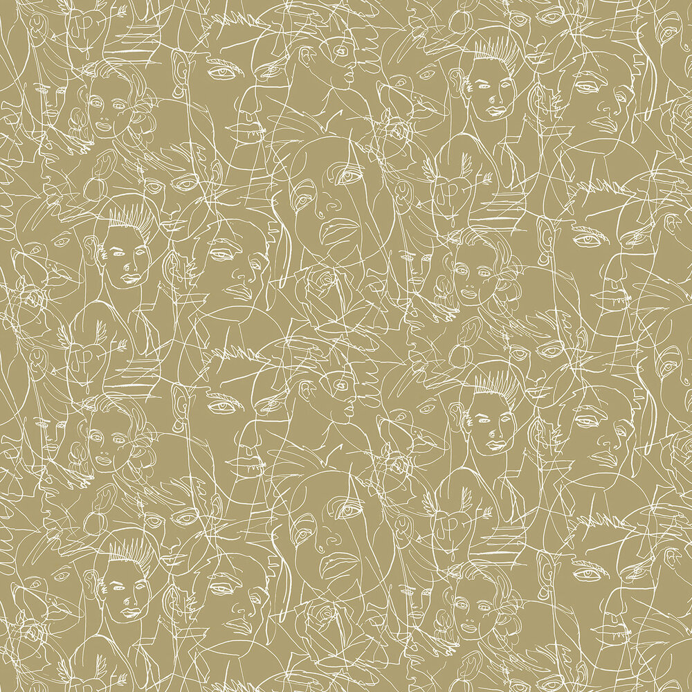 Gouache Wallpaper - Bronze - by Jean Paul Gaultier