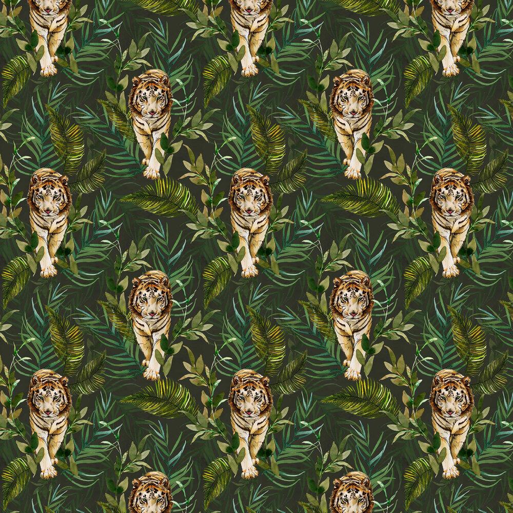 Graduate Collection Tiger Tiger Green Wallpaper - Product code: EG1TIGWALG